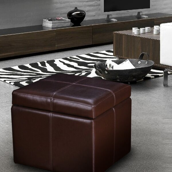 Hanscom Contrast Storage Ottoman By Ebern Designs Best #1