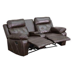 2 Seat Reclining Home Leather Theater Sofa Latitude Run