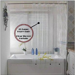 Price comparison Waterproof Vinyl Shower Curtain (Set of 2) BySymple Stuff