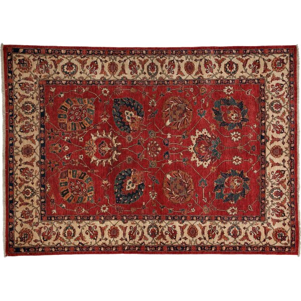 One-of-a-Kind Farahan Hand-Knotted Red Area Rug by Darya Rugs