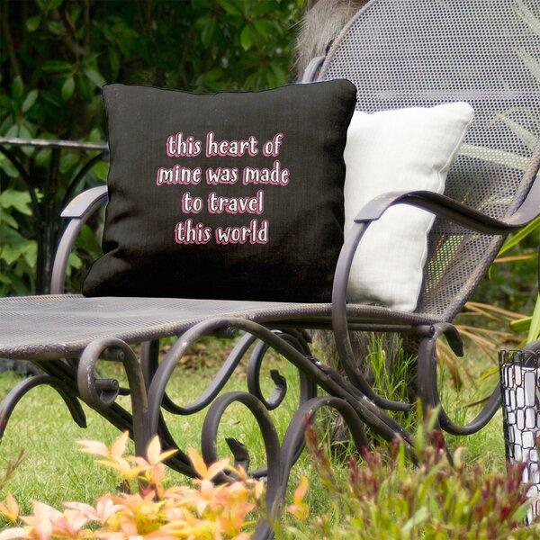 Travel Love Indoor/Outdoor Throw Pillow