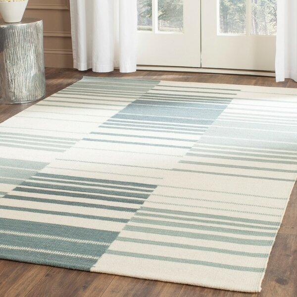 Kilim Blue & Ivory Striped Area Rug by Safavieh