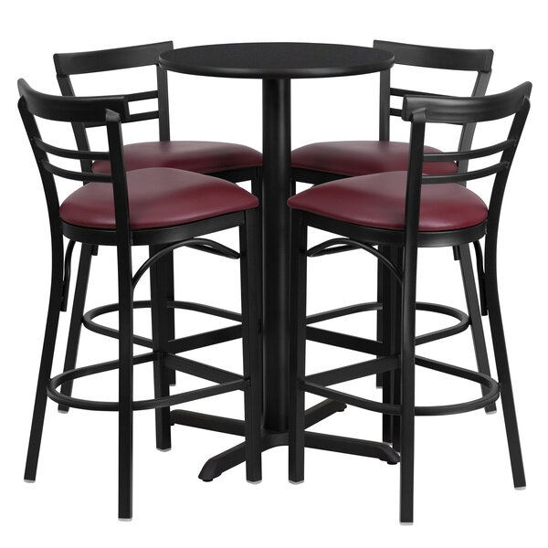 Kangwei 5 Piece Pub Table Set by Red Barrel Studio