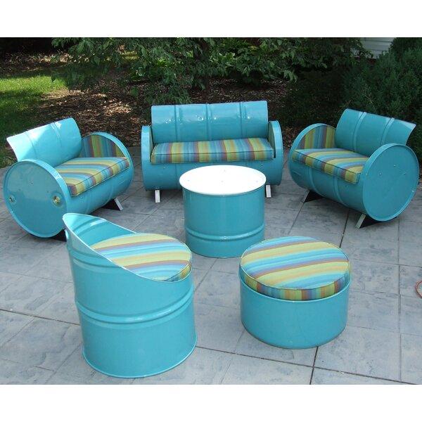 Rosalia 6 Piece Sunbrella Sofa Set with Cushions by Millwood Pines