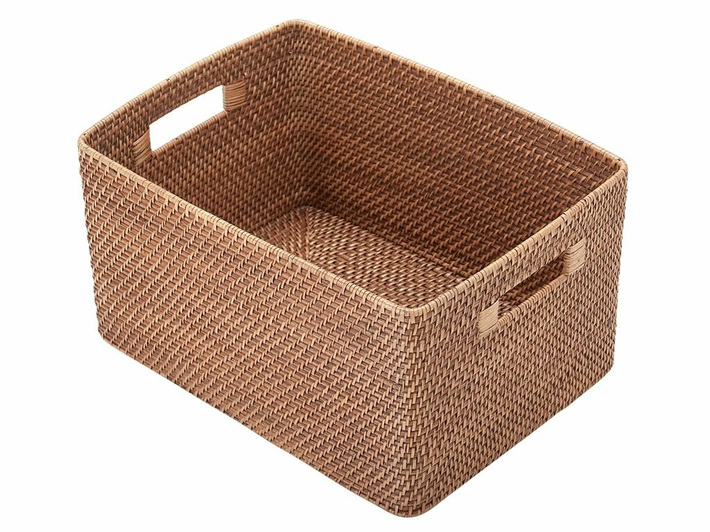 Amazing Rectangular Rattan Storage Basket