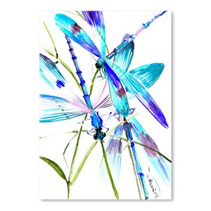 Dragonflies Painting Print by East Urban Home