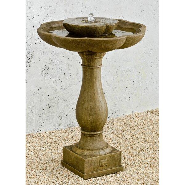 Flores Concrete Pedestal Fountain by Campania International