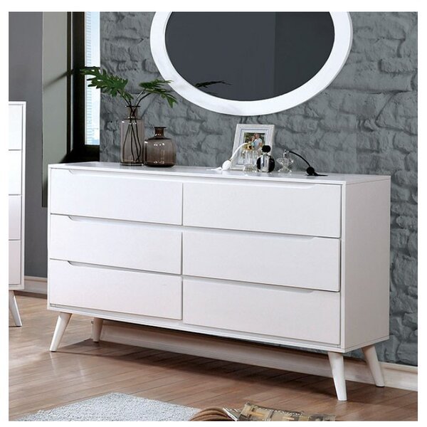 Ector 6 Drawer Double Dresser with Mirror by Corrigan Studio
