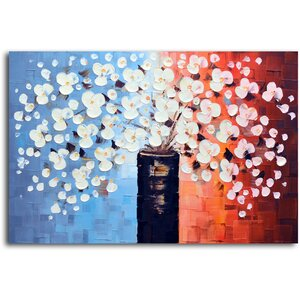 Spring's Answer to Snow' Painting on Canvas by Omax Decor