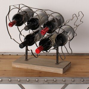 America 6 Bottle Tabletop Wine Bottle Rack by Kate and Laurel