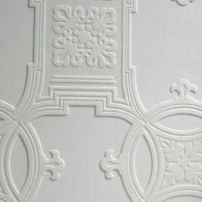 Anaglypta Paintable Early Victorian 33 X 20 5 Abstract 3d Embossed Wallpaper