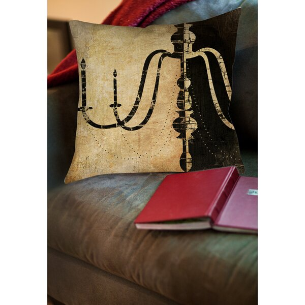 Chandelier 2 Printed Throw Pillow by Manual Woodworkers & Weavers