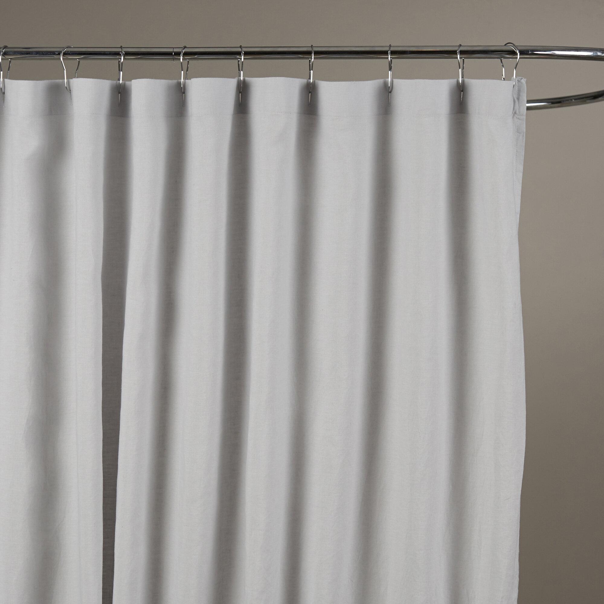 Birch Lane™ Bernadette Linen Shower Curtain & Reviews | Birch Lane