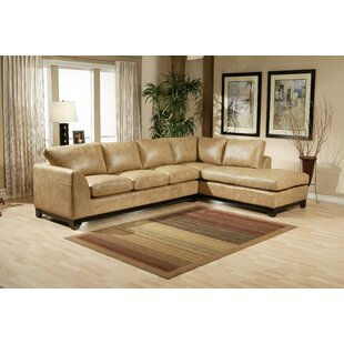 City Sleek Leather Sectional  by Omnia Leather