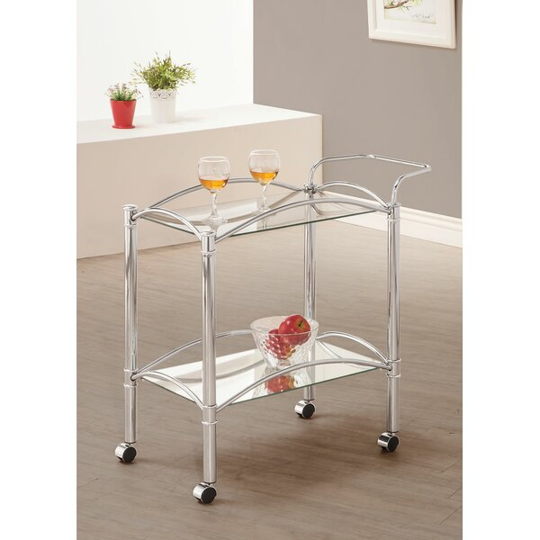 Levine Rolling Casters Kitchen Bar Cart by Alcott Hill