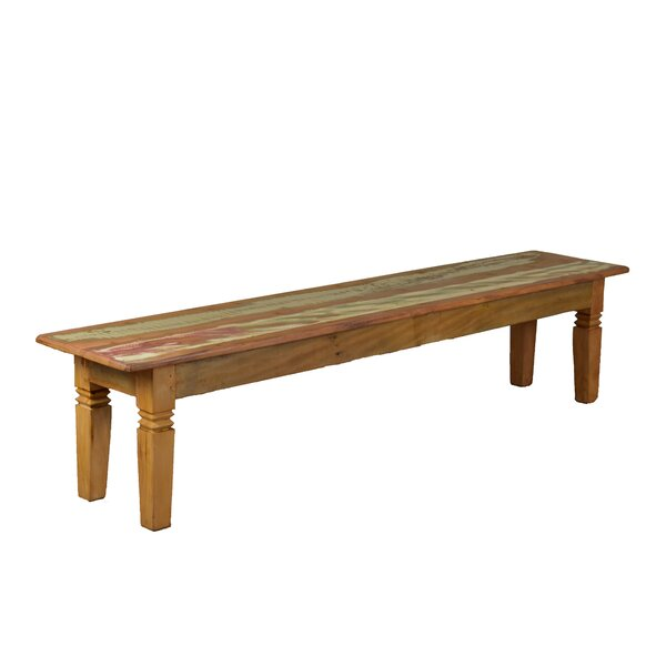 Hamblen Double Chinese Feet Wood Bench by Bloomsbury Market