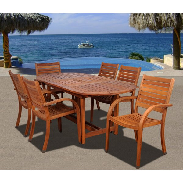 Troche International Home Outdoor 7 Piece Dining Set by Highland Dunes