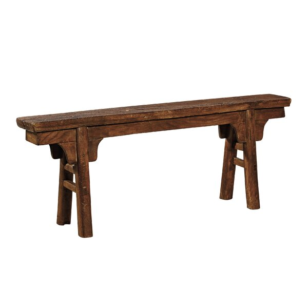 Peasant Wood Bench by Furniture Classics