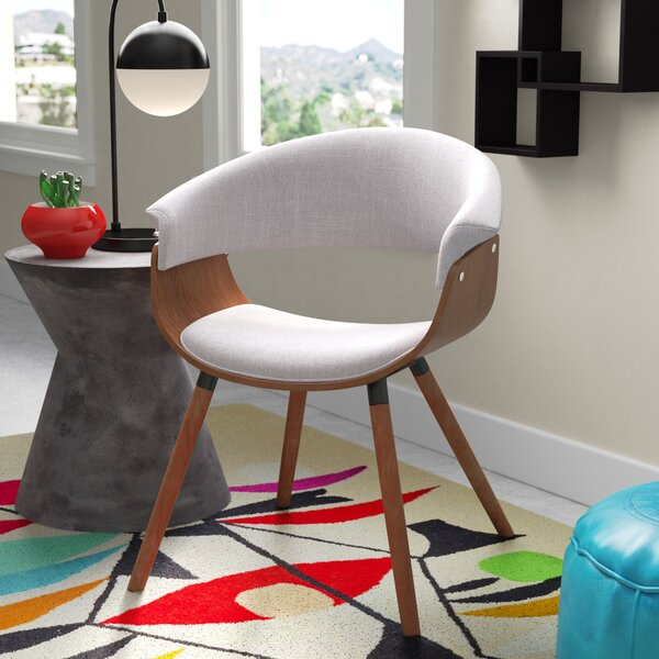 Zoe Bent Wood Accent Armchair by Langley Street