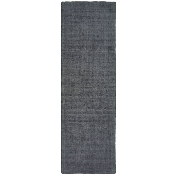 Grimes Plush Hand-Tufted Charcoal Area Rug by Alcott Hill