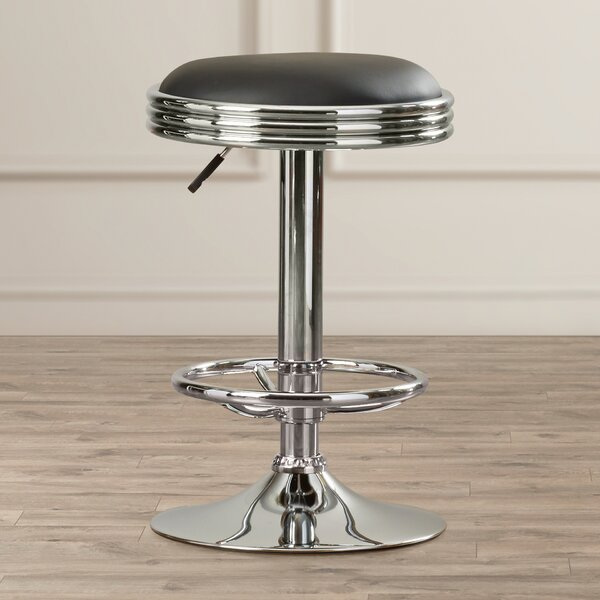 Dora Adjustable Height Swivel Bar Stool by Latitude Run