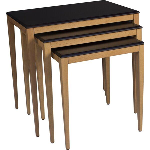 Nannette Lightweight Stackable Rectangular 3 Piece Nesting Tables by Brayden Studio