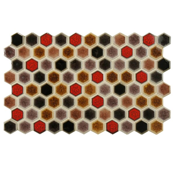 Genoa 9 x 5.5 Porcelain Mosaic Tile in Brown by EliteTile