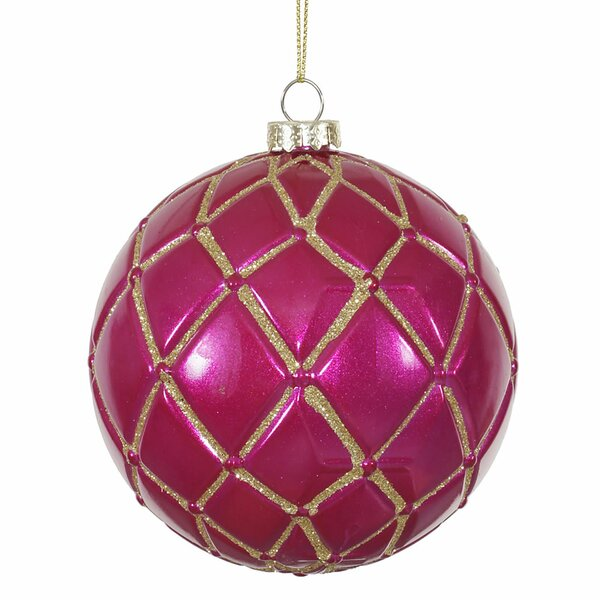 Emerald Net Christmas Ball Ornament (Set of 6) by The Holiday Aisle