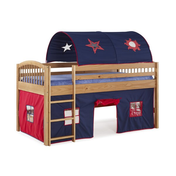 Abigail Twin Loft Bed with Tent by Zoomie Kids