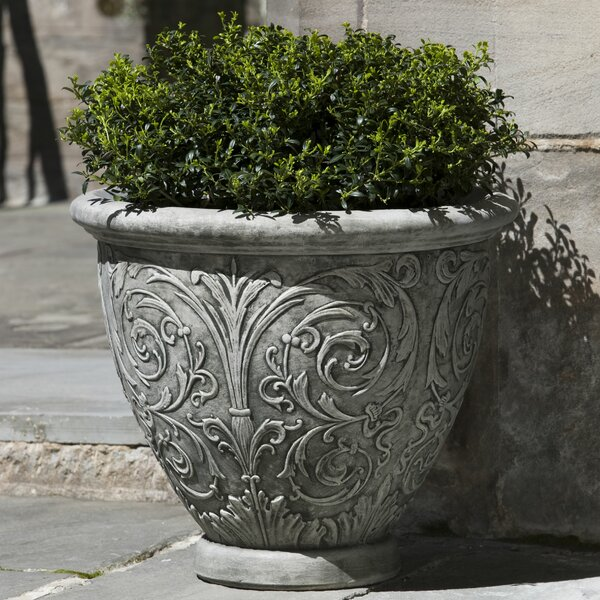 Vernetta Round Cast Stone Pot Planter by Darby Home Co