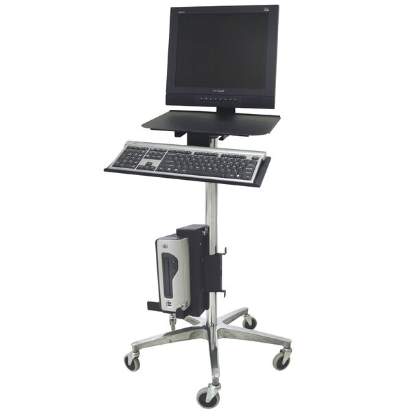 ERGO Computer Transport AV Cart with Cord Wrap by Omnimed