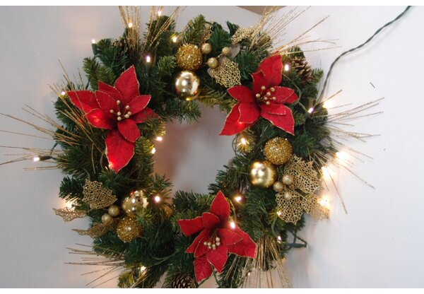 Flocked Wreath by Queens of Christmas