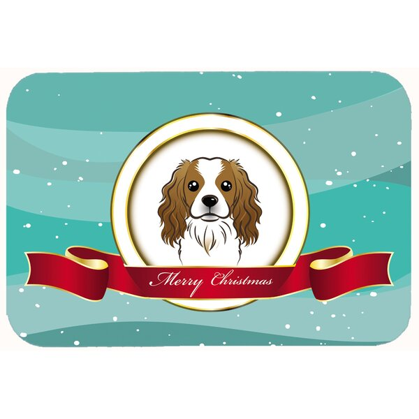 Cavalier Spaniel Merry Christmas Kitchen/Bath Mat by East Urban Home