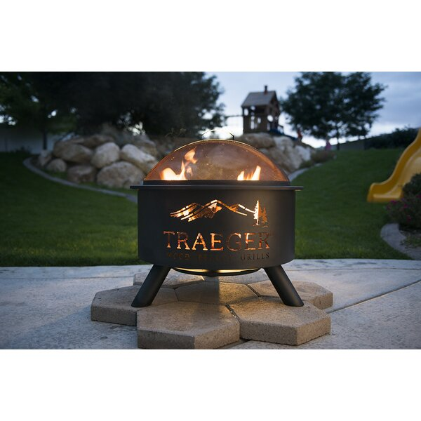 Steel Wood Burning Fire Pit by Traeger Wood-Fired Grills
