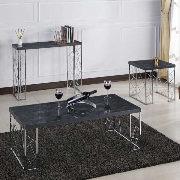 Dorothy 3 Piece Coffee Table Set By Mercer41