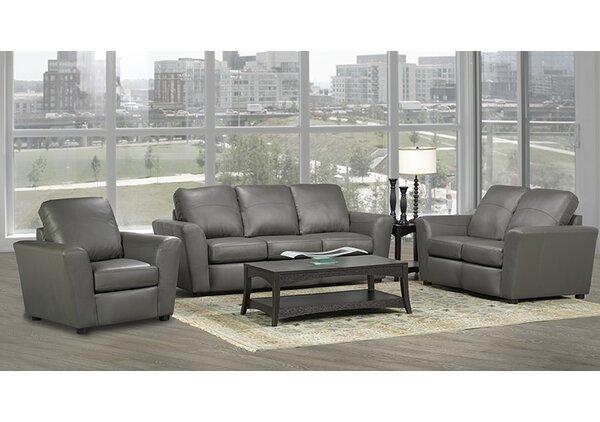 Lidiya 3 Piece Leather Living Room Set By Red Barrel Studio