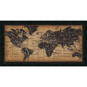 'Old World Map' Framed Graphic Art by World Menagerie
