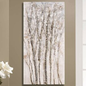 Birch Trees Painting Print on Canvas by GiftCraft