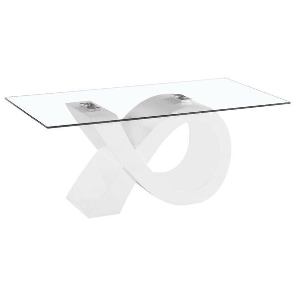 Alpha Glass Coffee Table By Orren Ellis