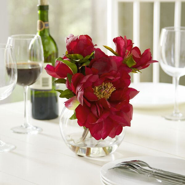 Faux Deep Pink Peony Bloom by Birch Lane™