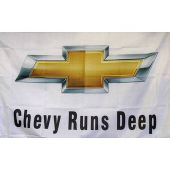 NEOPlex Chevy Trucks Auto Logo with Words Traditional Flag Fan ...