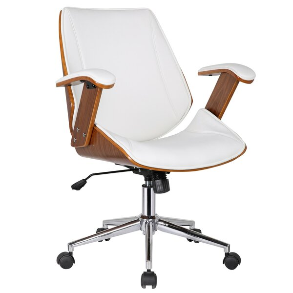 Smythe Mid-Back Leather Desk Chair by Langley Street
