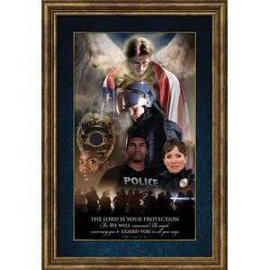 'Angel of Protection for Police Officers - Protector of Justice' by James Nesbitt Framed Photographic Art by Carpentree