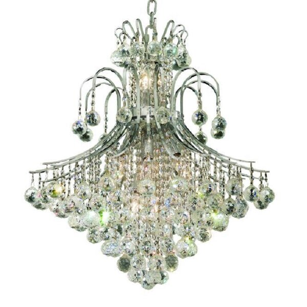 McAllen 15 - Light Shaded Tiered Chandelier with Crystal Accents by Mercer41 Mercer41