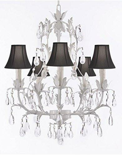 Molinaro 5 - Light Shaded Tiered Chandelier with Wrought Iron Accents by House of Hampton House of Hampton