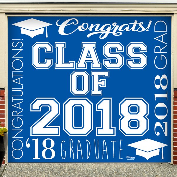 Graduation Garage Door Mural by Red Barrel Studio