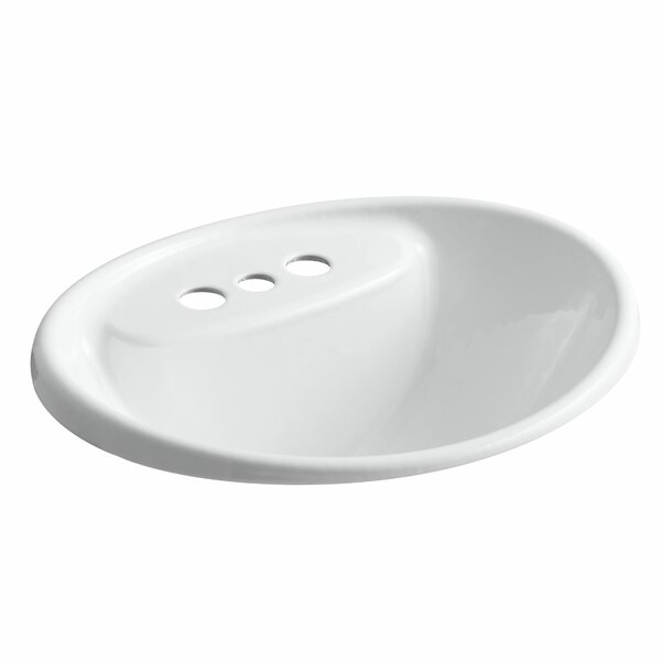 Tides Metal Oval Drop-In Bathroom Sink with Overflow by Kohler