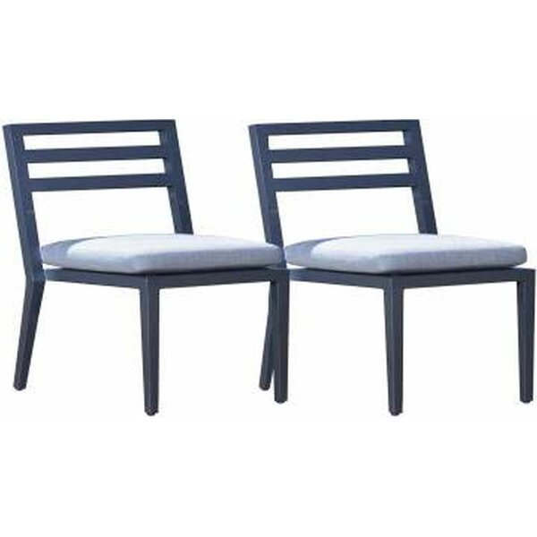 Cremont Armless Patio Dining Chair with Cushion (Set of 2) by Longshore Tides