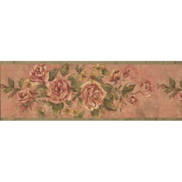 Hydrangea Bloomed Roses on Vine Wallpaper Border by August Grove