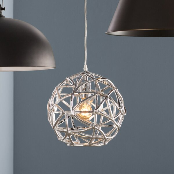 Hinnenkamp 1-Light Pendant by Wrought Studio